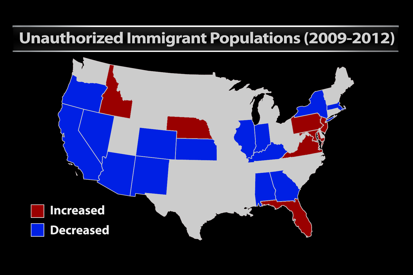 Immigrant population map