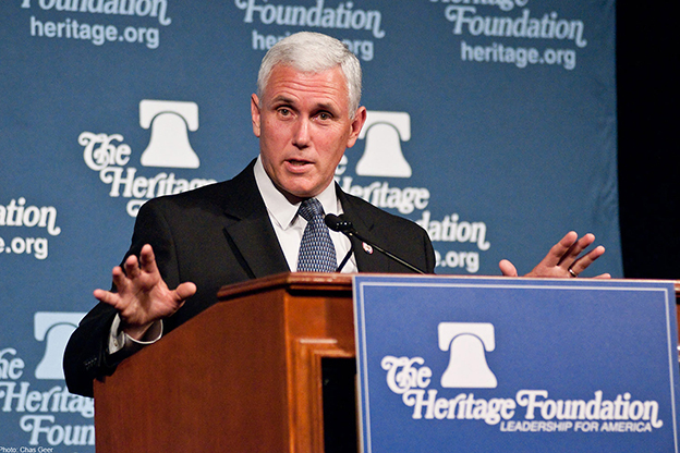 The third State of the State address from Gov. Mike Pence – pictured here at an event in Washington D.C. – focused heavily on education – something many Hoosiers expected. (Photo Credit: The Heritage Foundation/Flickr)
