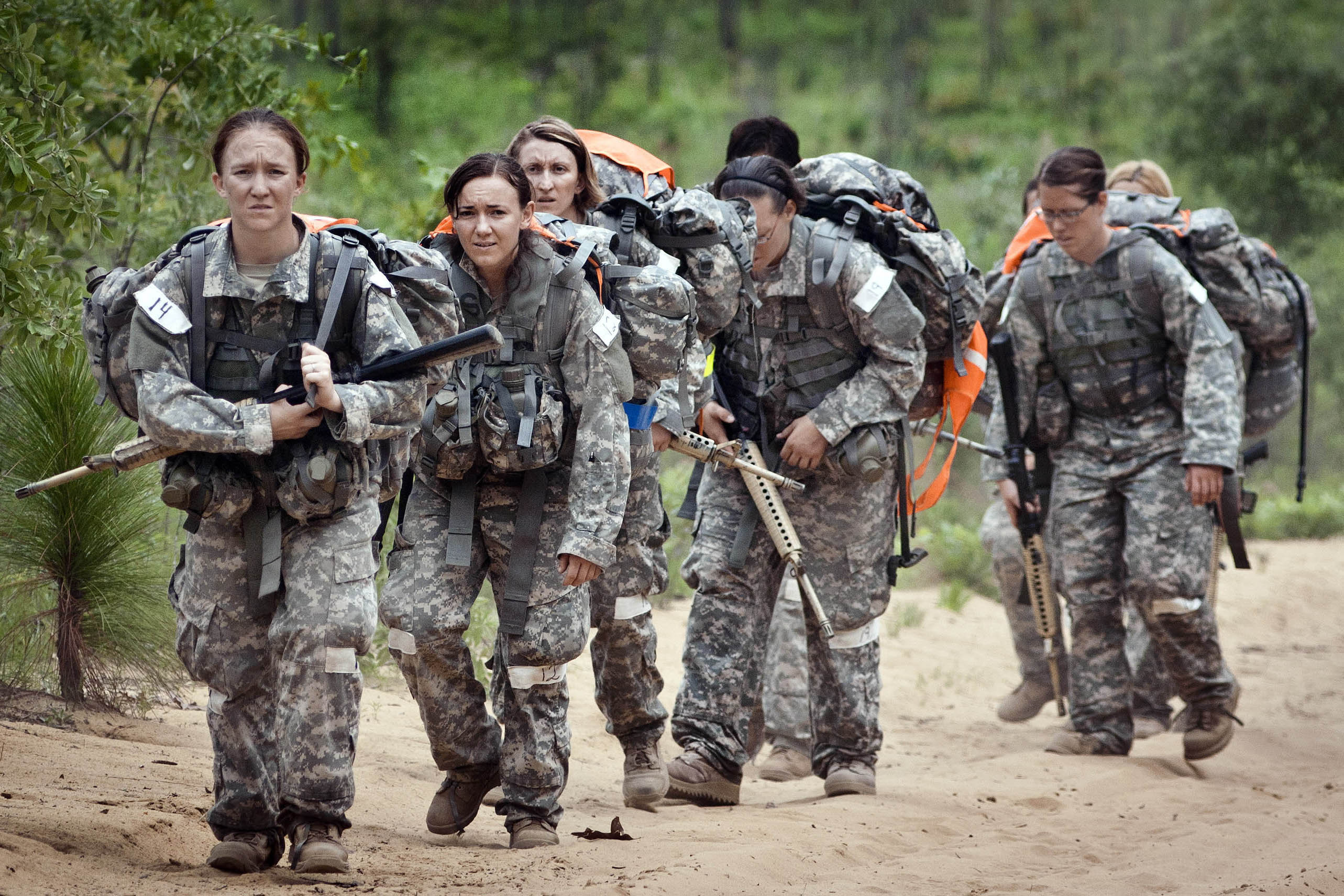 Female army soldiers