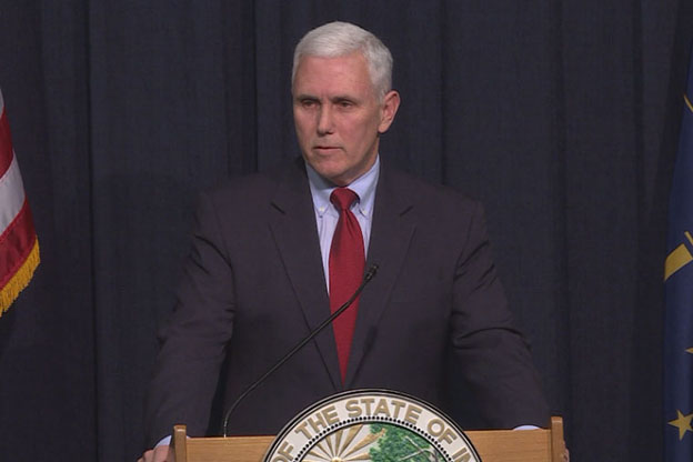 Pence signed an executive order shortening the length of this year's ISTEP+ test. (Photo Credit: Gretchen Frazee/WTIU)