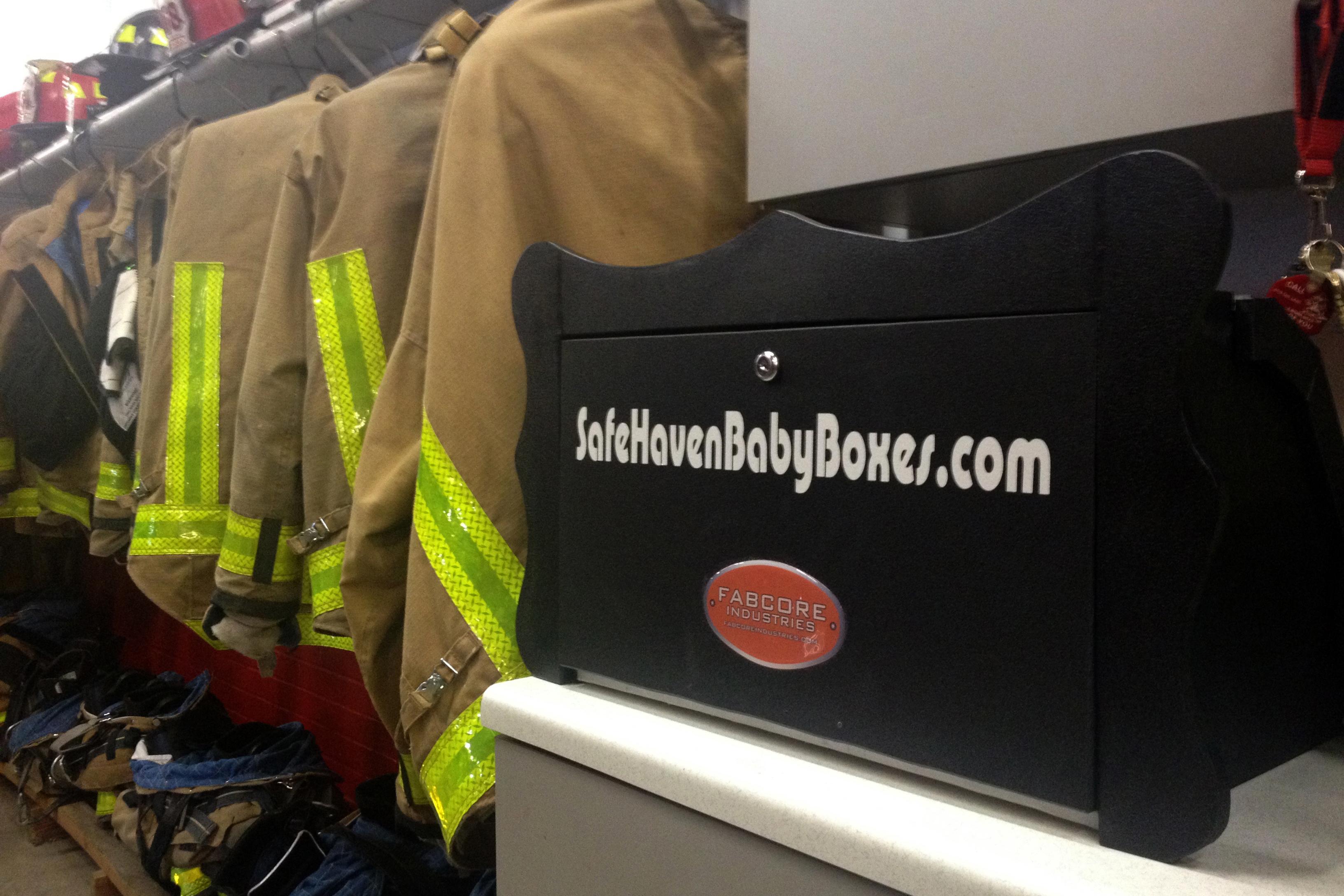 A prototype of the baby box (WFIU/WTIU News)