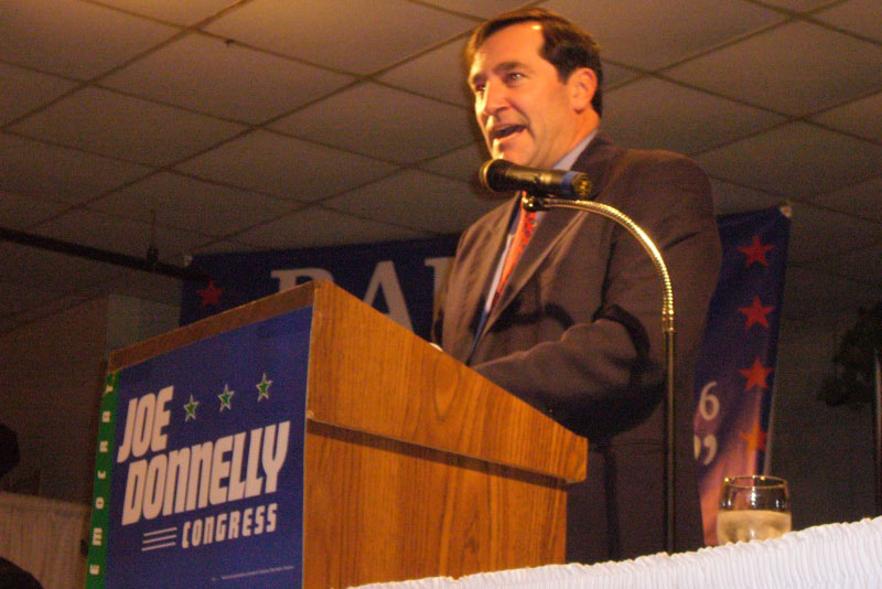 Donnelly announced that he will support the Iran nuclear deal