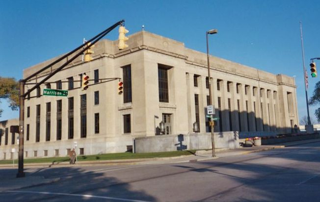 The E. Ross Adair Federal Building, seat of the Fort Wayne division of the U.S. District Court for the Northern District of Indiana