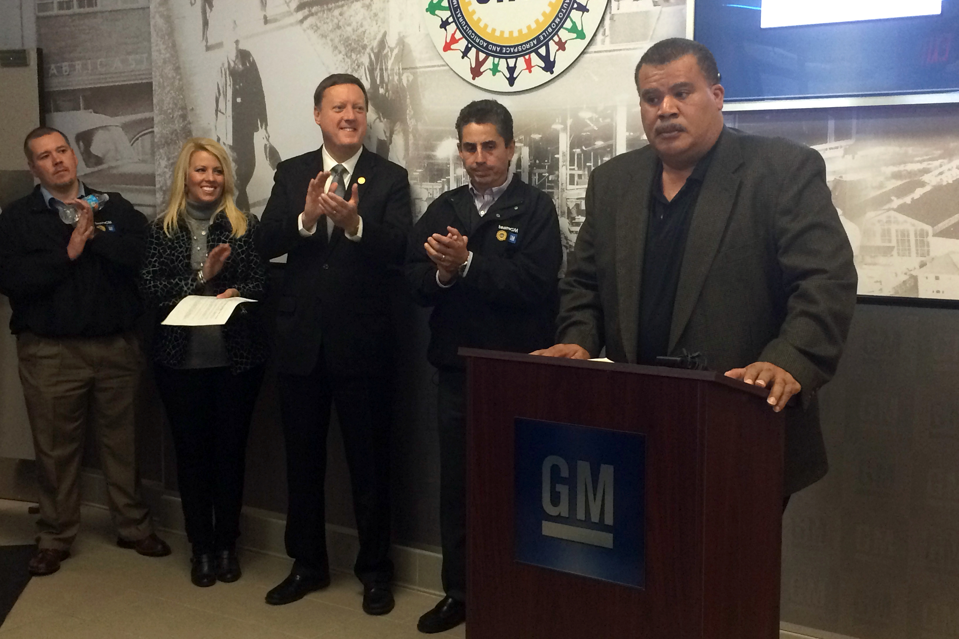 GM announcement in Bedford plant