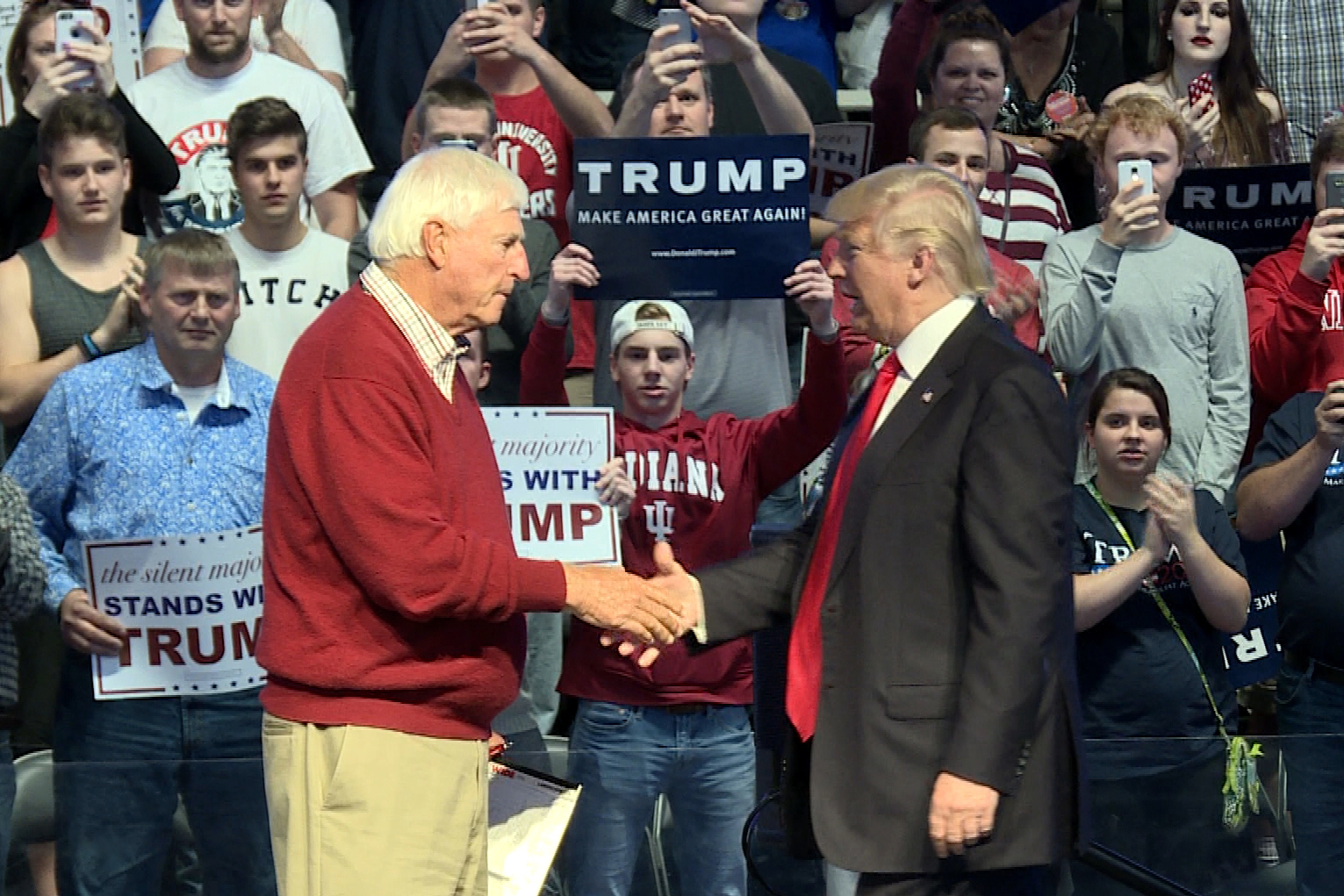 Bobby Knight and Donald Trump