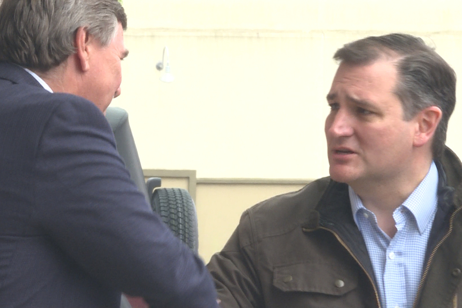 Senator Ted Cruz visited Bloomington's Wagon Wheel Market on Monday.