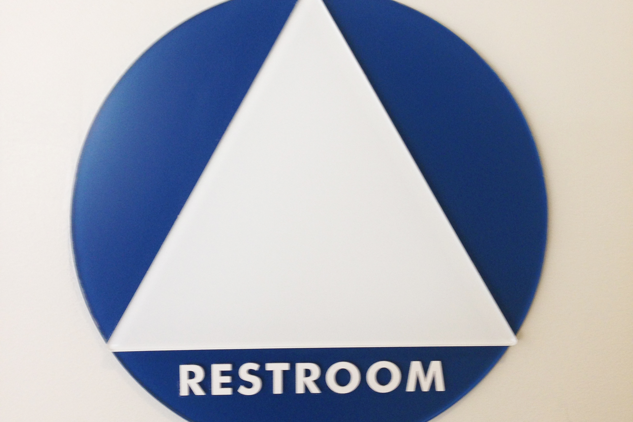 A gender neutral bathroom sign on the UCSD campus.