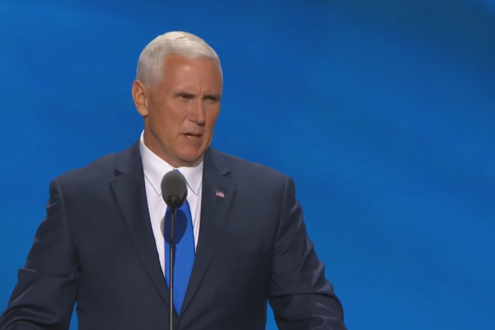 Mike Pence officially accepted his nomination at the GOP convention Wednesday.