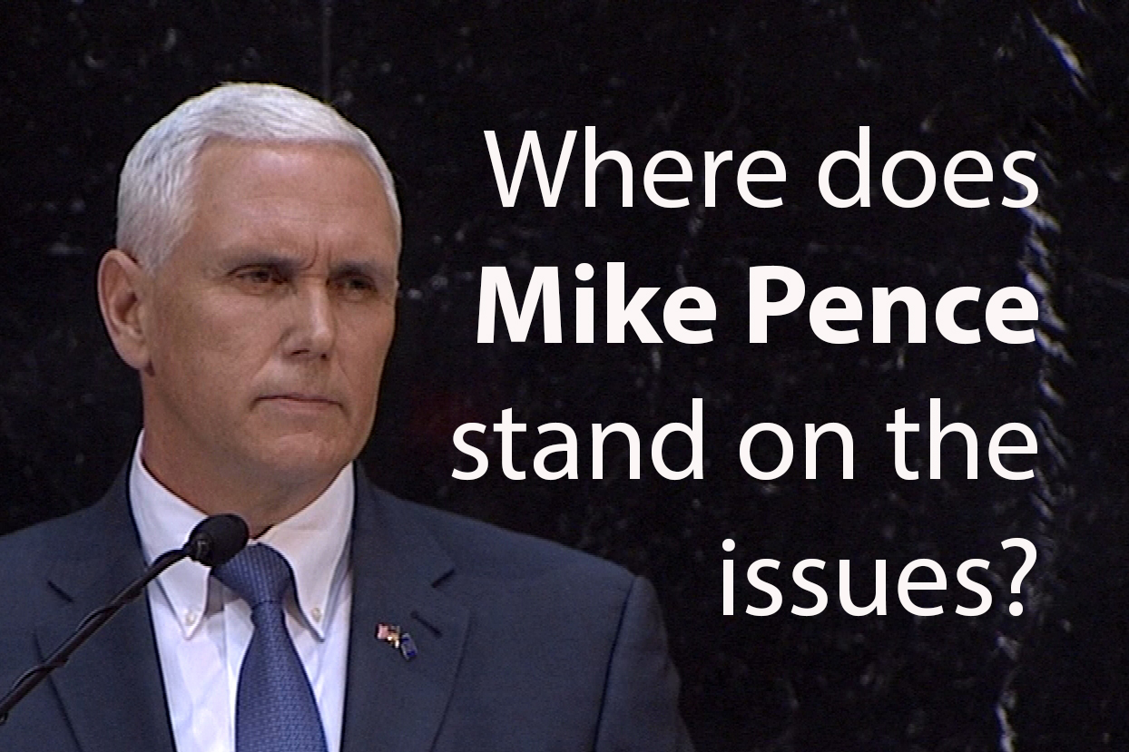 Republican Mike Pence has served as the governor of Indiana since 2013.