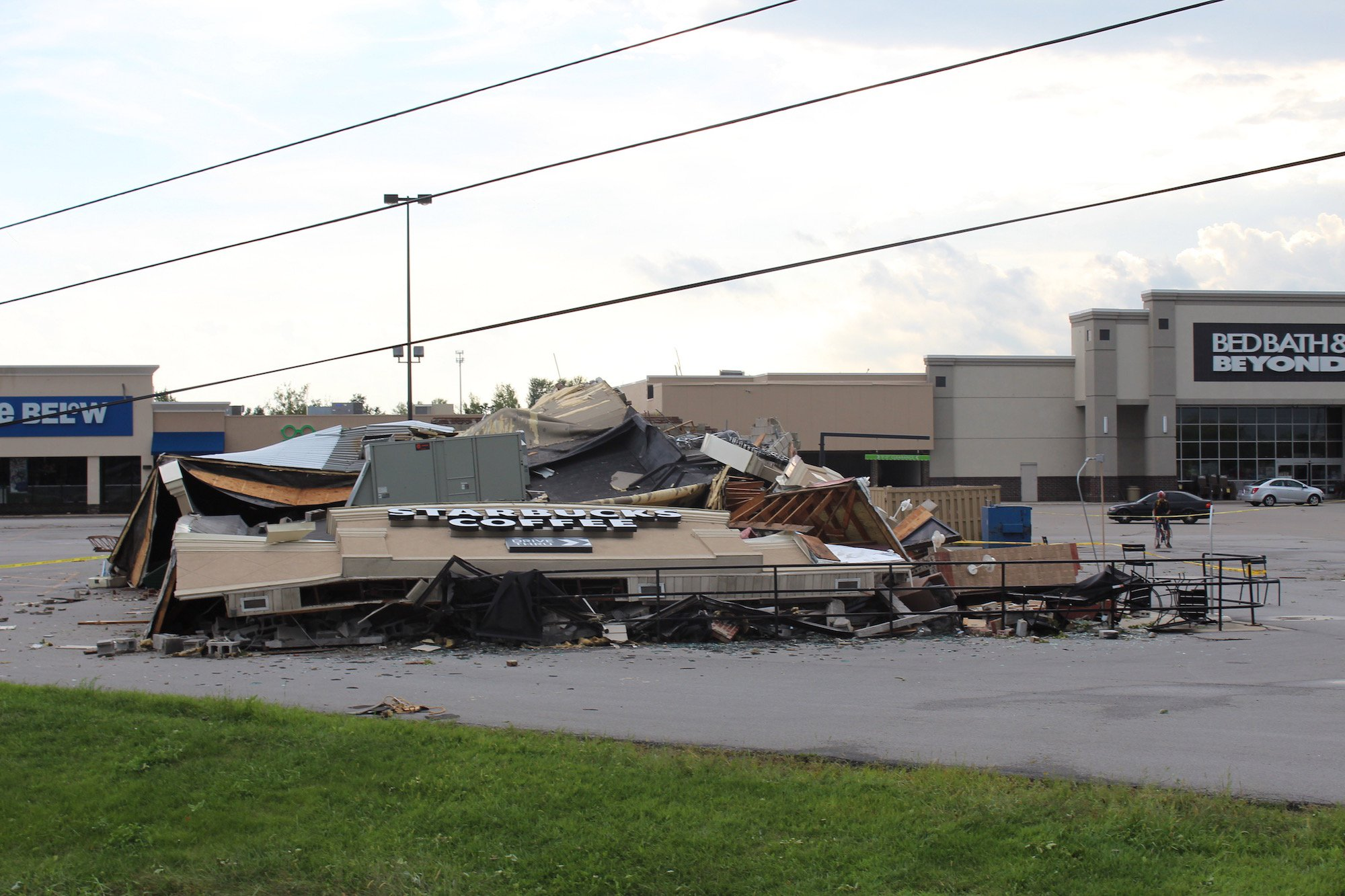 A Starbucks in Kokomo was leveled when a tornado touched down.