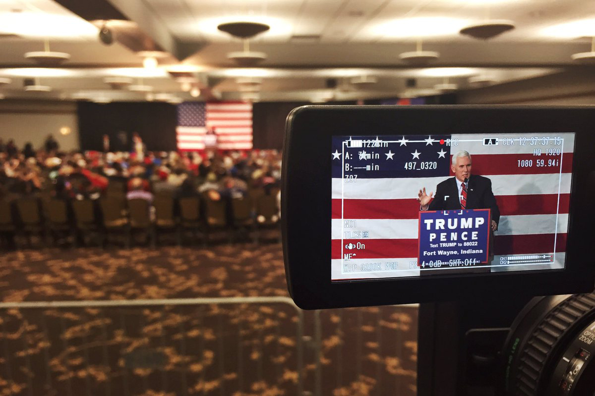 Gov. Mike Pence campaigned for Donald Trump and Indiana Republicans in Fort Wayne on Sept. 30.