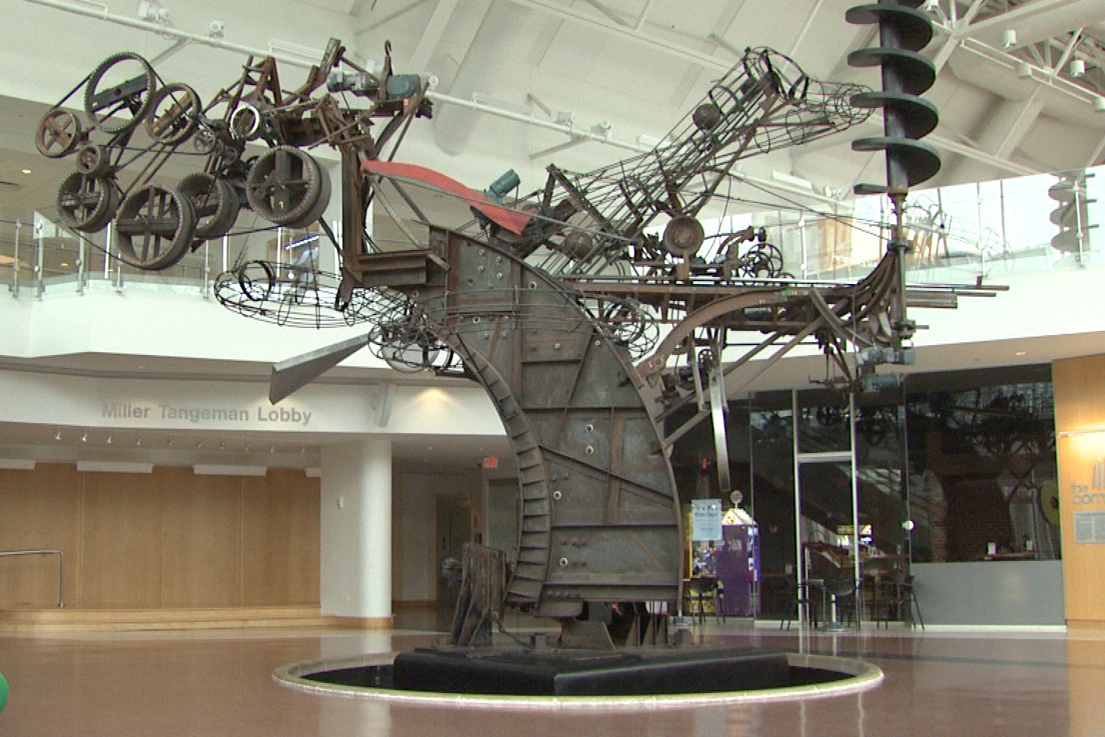"""The sculpture """"Exploded Engine"""" can be found in the Cummins Corporate Headquarters in Columbus, IN."""