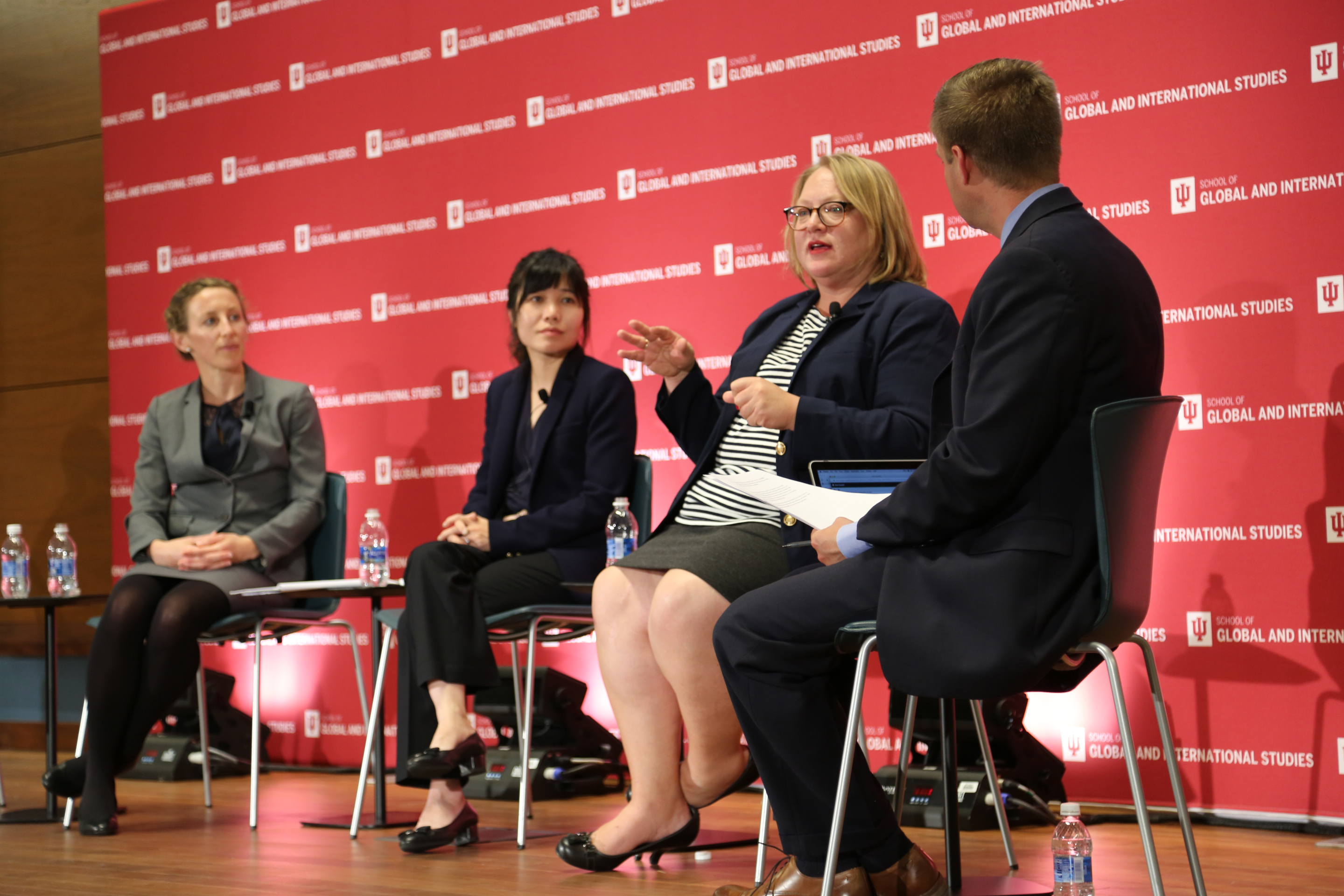 Four SGIS instructors spoke on a panel discussing foreign policy issues.