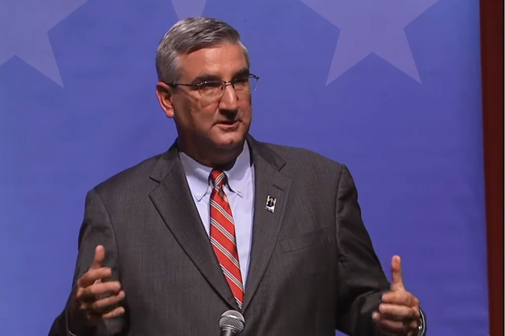 Lt. Gov. Eric Holcomb is the Republican candidate for Indiana governor.