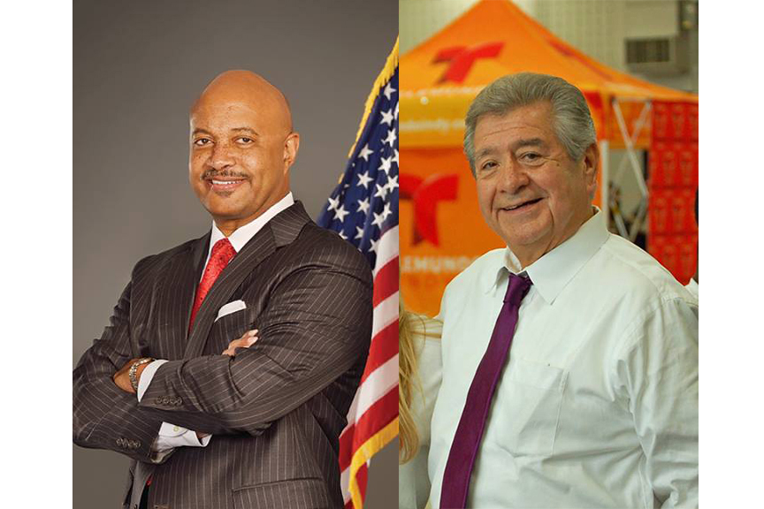 Curtis Hill (left) is the Republican candidate for Attorney General. Lorenzo Arredondo is the Democratic candidate.