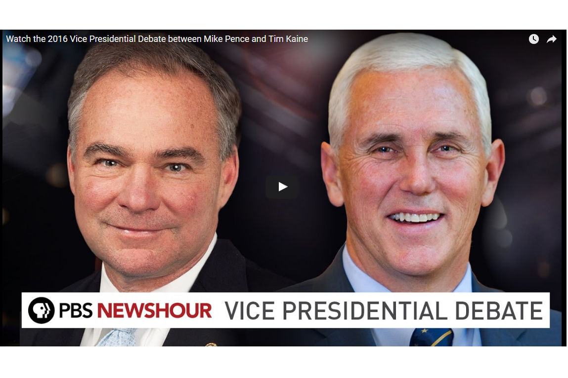 Kaine and Pence will meet in the first and only Vice Presidential debate Tuesday night.