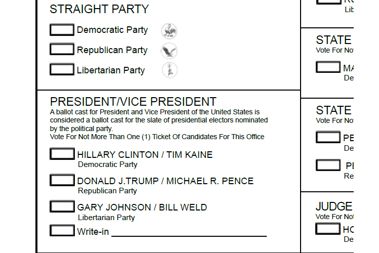 There are 15 people certified as write-in candidates for President in Indiana.