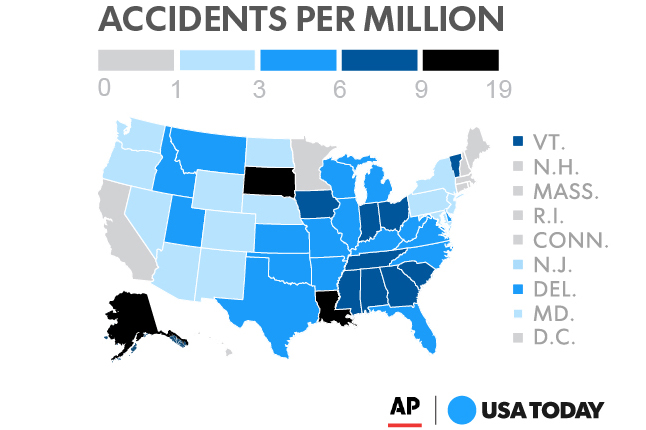 A joint investigation from AP and USA Today found that Indiana has the 7th highest rate of accidental deaths involving children.