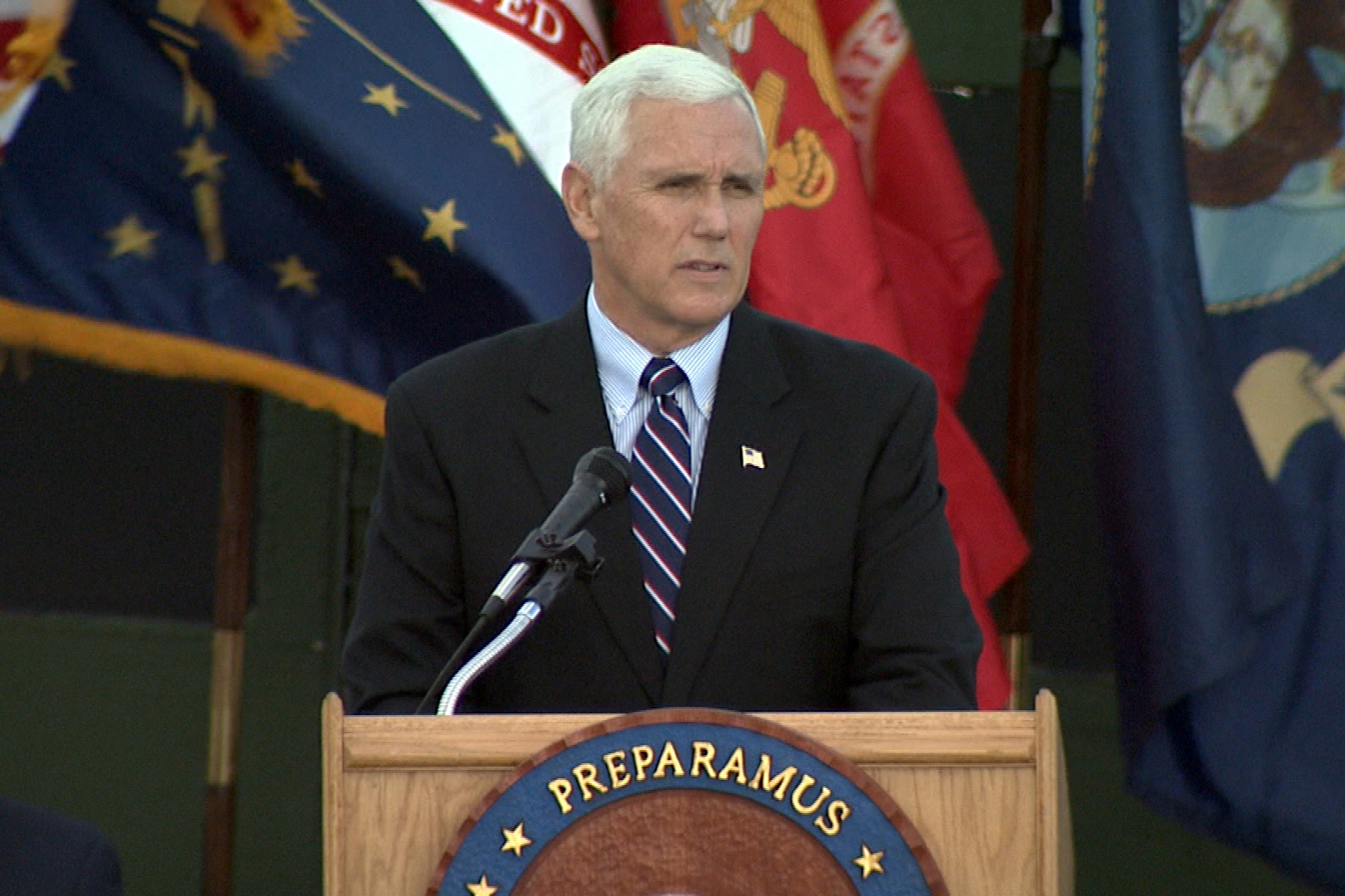 Vice President-elect Mike Pence spent Veteran's Day at Indiana's Camp Atterbury.