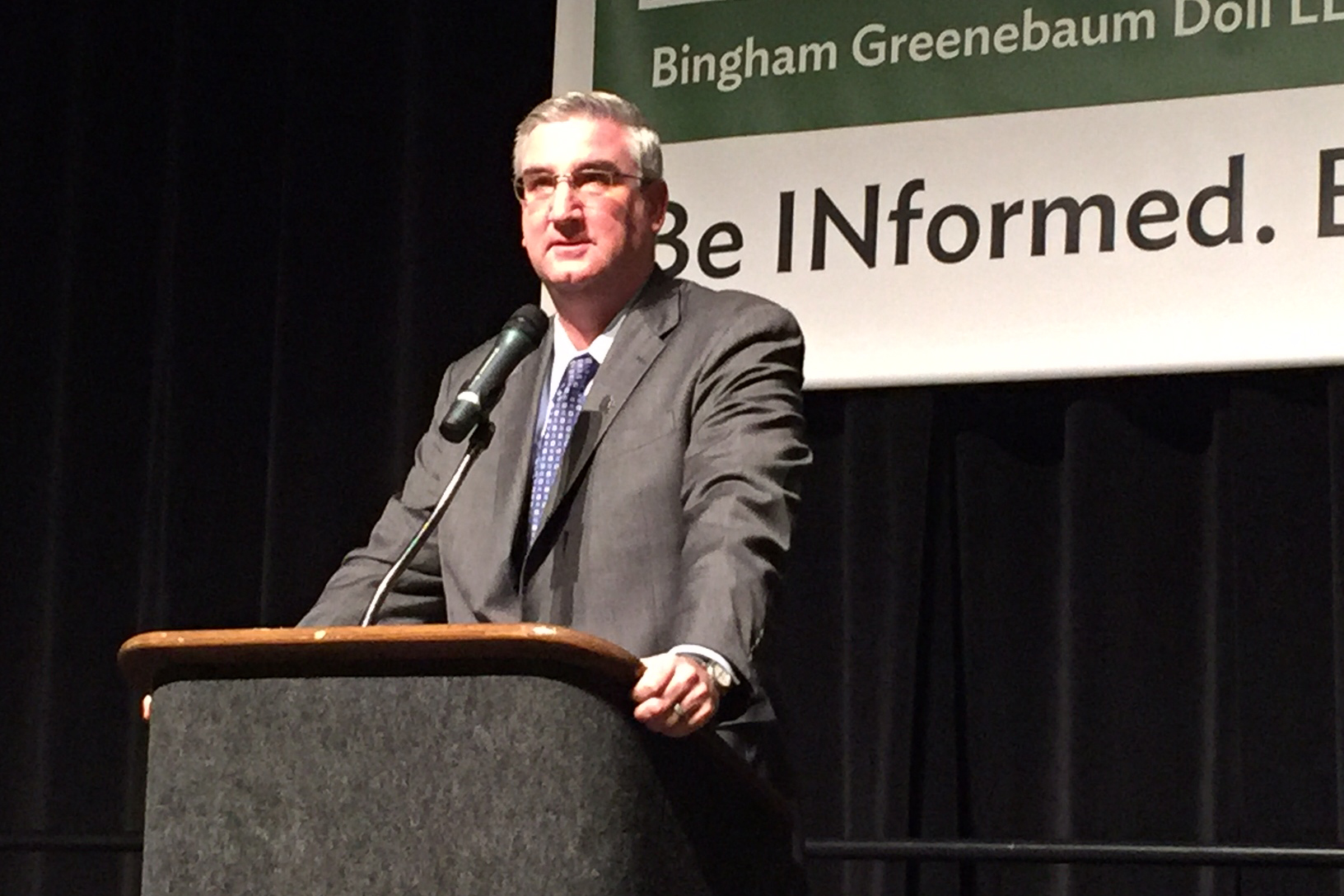 Governor-elect Eric Holcomb lays out the framework of his legislative agenda at the annual BGD Legislative Conference.