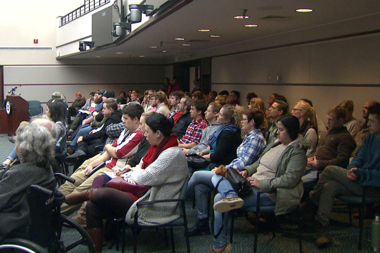 Dozens of Indiana Recovery Alliance supporters attended the Bloomington City Council meeting.