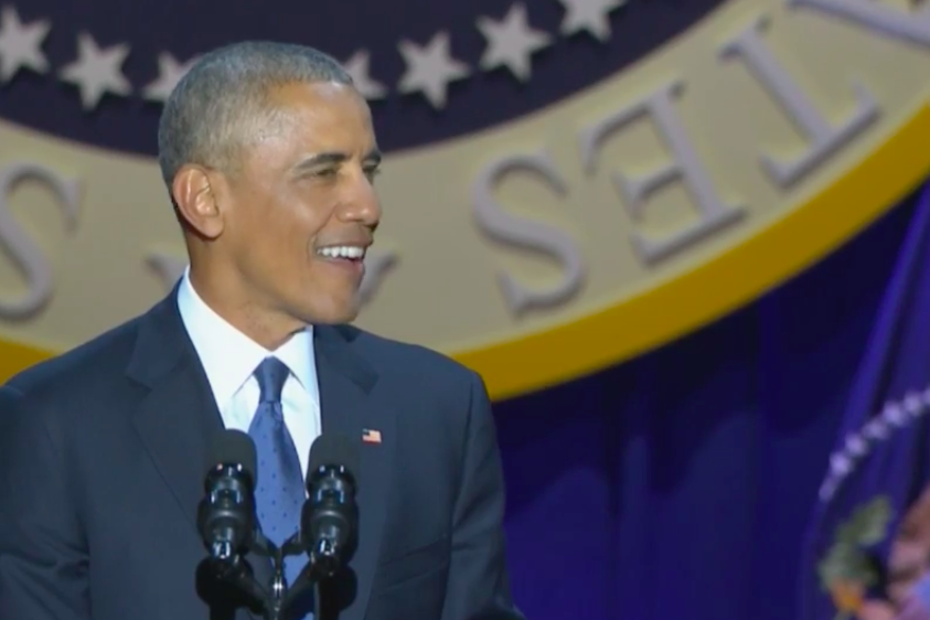 President Obama gave his farewell address in Chicago Tuesday night.