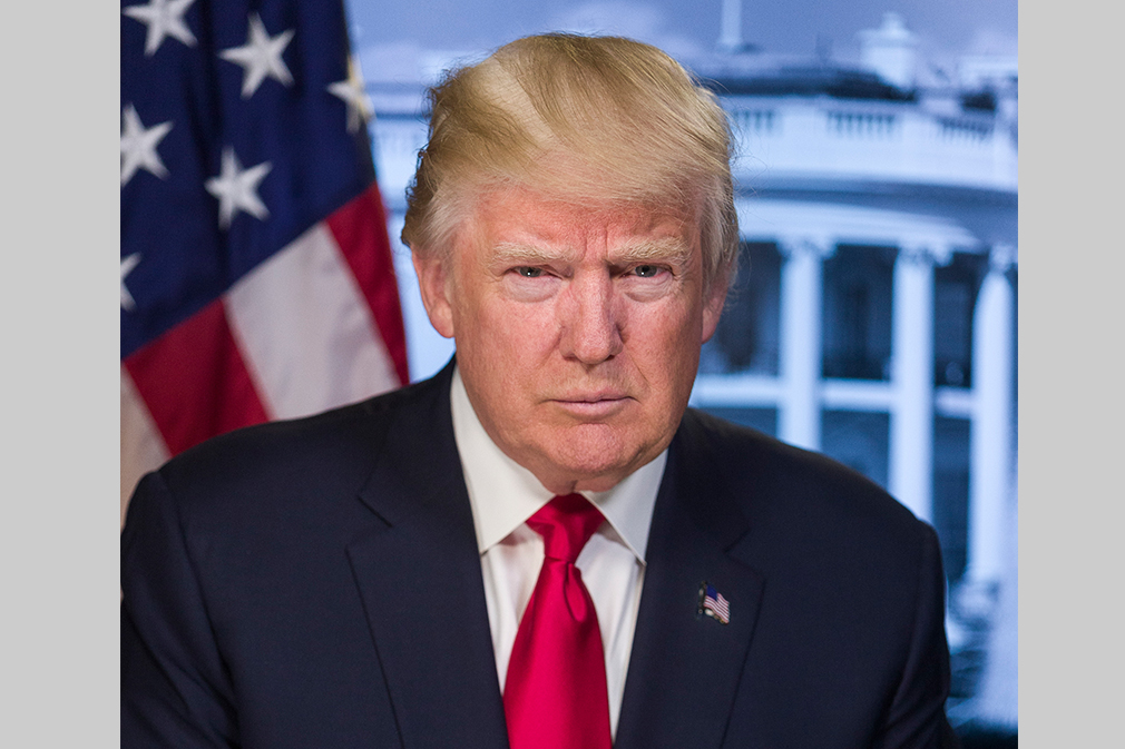 Republican Donald Trump is the 45th President of the United States.