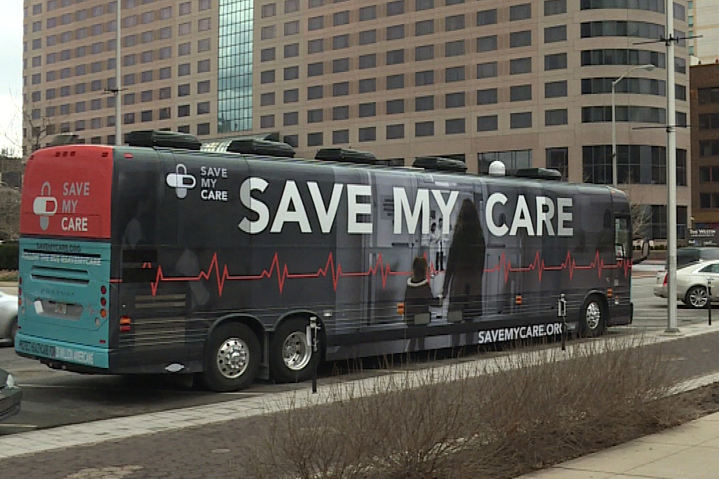 'Save My Care' is a national bus tour sponsored by proponents of the Affordable Care Act.
