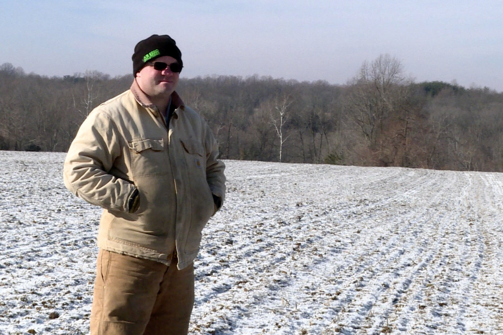 Jeff Bailey is a part-time farmer in Bloomington. He's one of few Indiana farmers younger than the average age of 58.