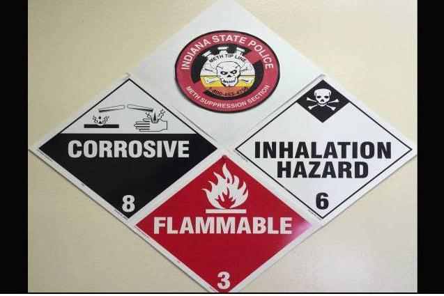 A meth hazard sign.