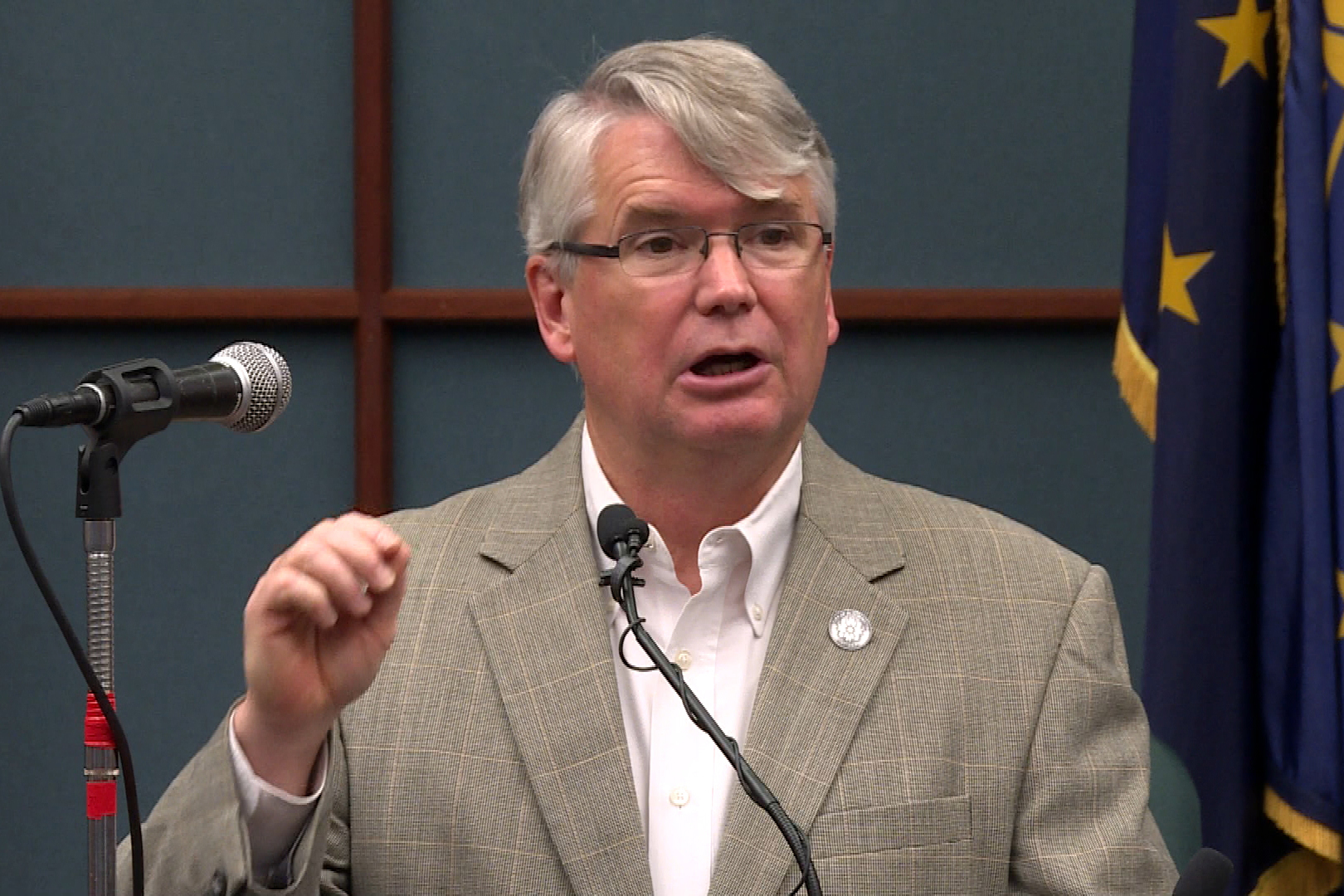Bloomington Mayor John Hamilton at City Hall