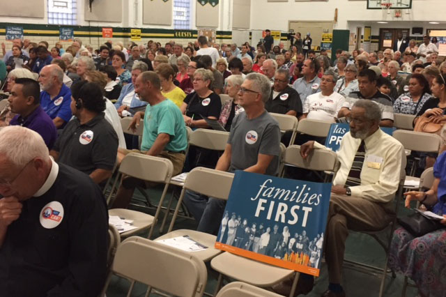Hoosiers gathered Wednesday night to express concerns about the federal budget.