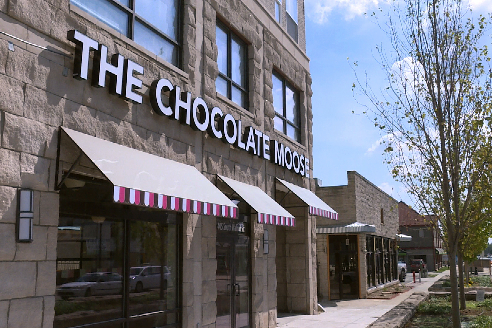 The Chocolate Moose will open on the ground floor of a new multi-use building sitting on the same tract of land as the original brown building.