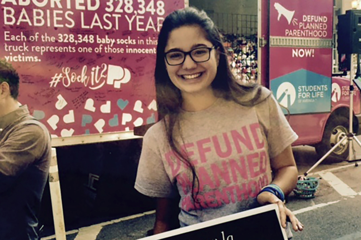 Mary Carmen Zakrajsek a student at Marion College attended the rally.