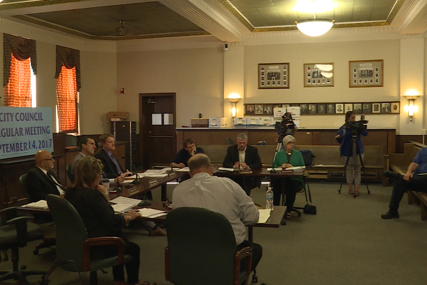 The Terre Haute City Council in the courtroom at City Hall.