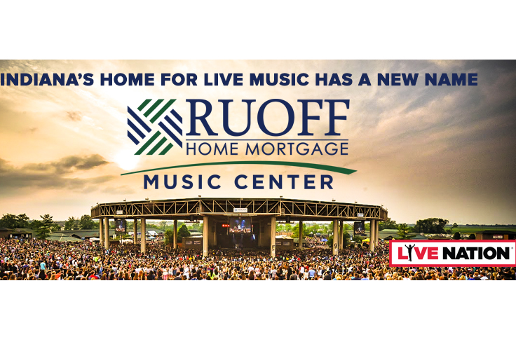 The venue formerly known as the Klipsch Music Center will now be called the Ruoff Home Mortgage Music Center.