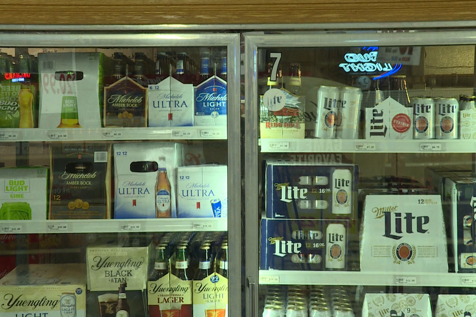 Indiana law only allows liquor stores to sell cold beer.