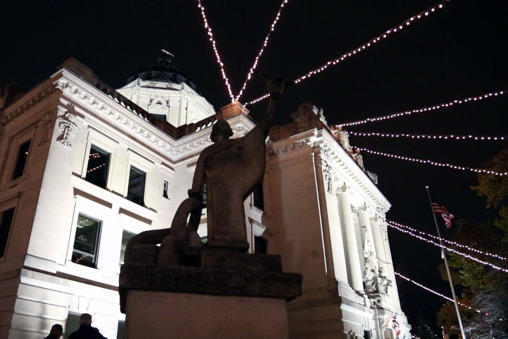 Bloomington's annual Canopy of Lights includes thousands of lights strung from the courthouse. Pictured here in 2016.