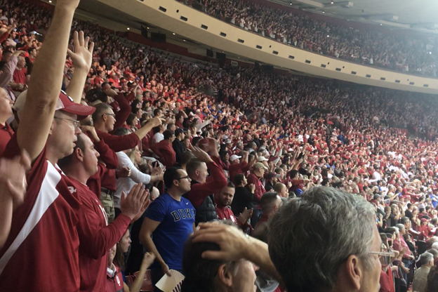IU fans pack Assembly Hall to the rafters as the Hoosiers took on Duke in the Big Ten/ACC Challenge.