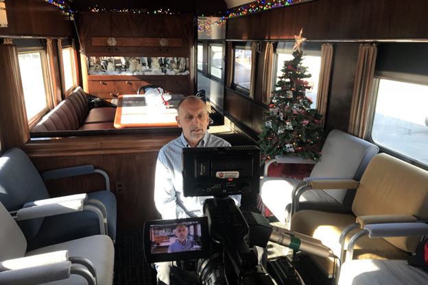 Kokomo Mayor Greg Goodnight on the Polar Bear Express Train