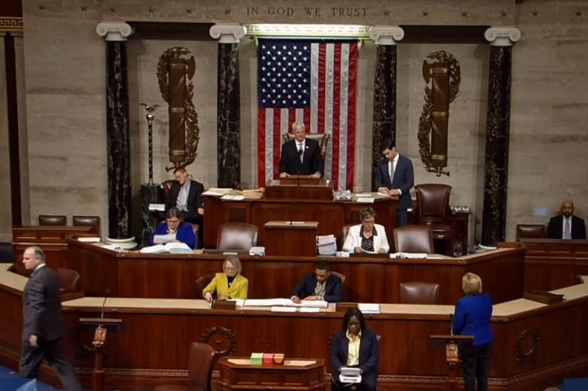 The U.S. House chamber on Wednesday just prior to the vote on the GOP tax overhaul bill.