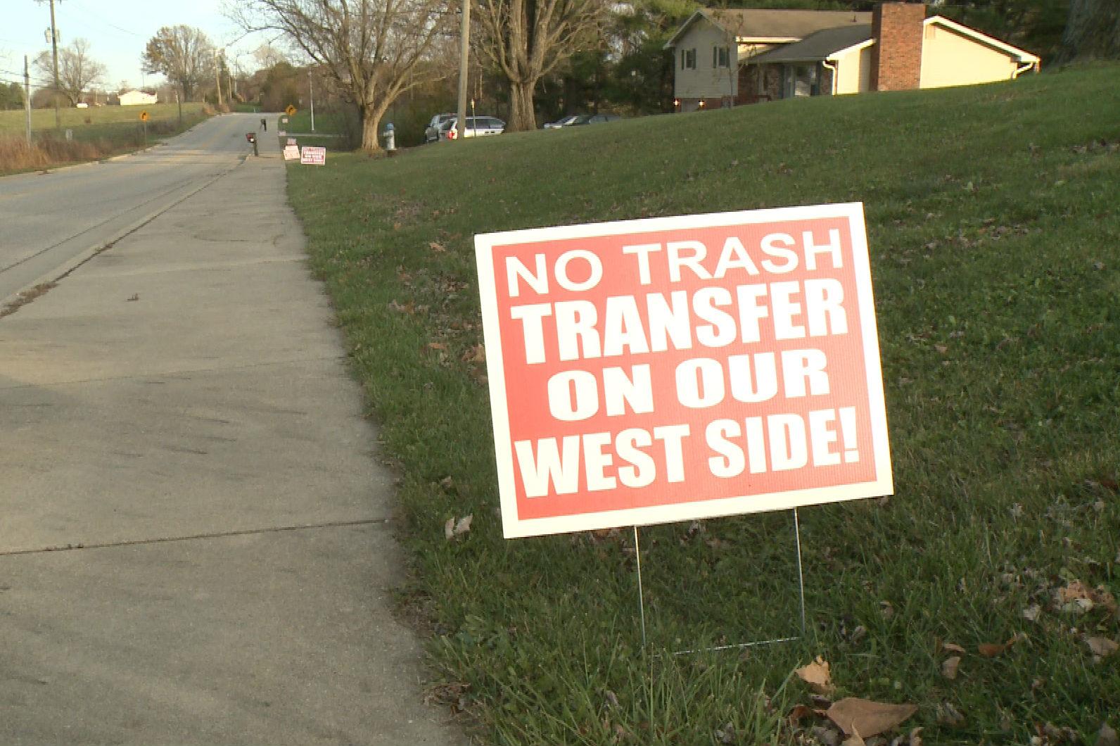 sign opposing waste transfer station