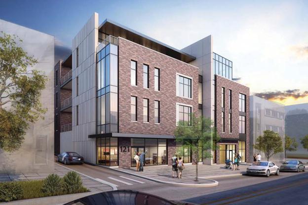 A rendering of 121 Kirkwood west of CVS on Kirkwood Avenue.