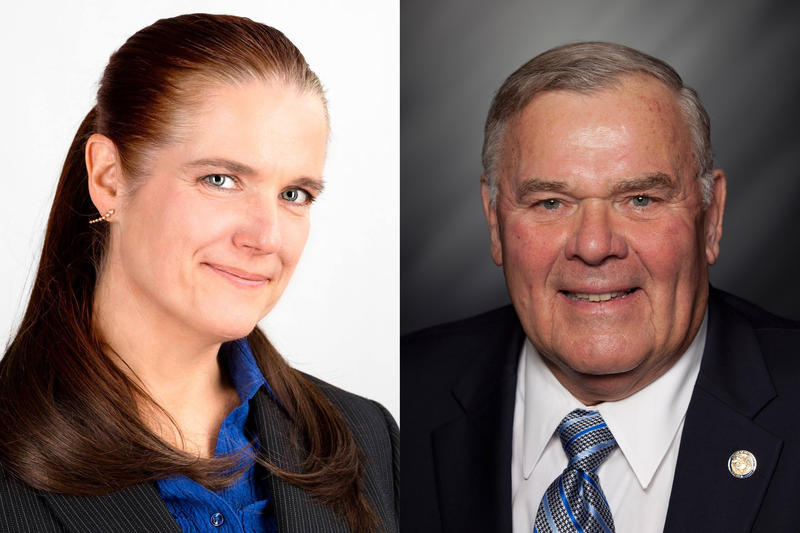 Democrat Tobi Beck will face Republican Jim Baird for the 4th District. (Photo courtesy of beck4indiana.org and Indiana House Republicans)