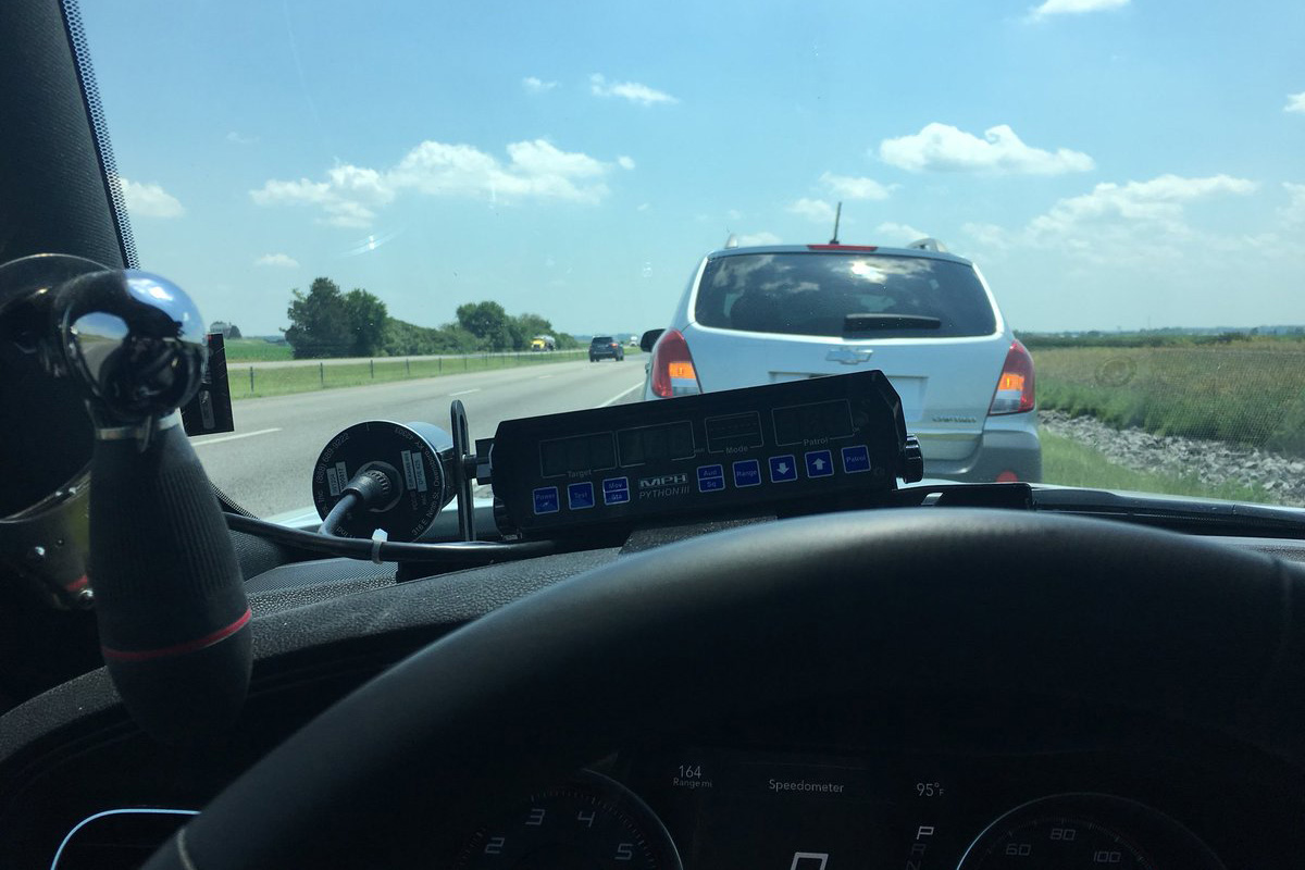 Indiana State Police Sgt. Stephen Wheeles went viral after tweeting about pulling over someone for driving too slow in the left lane (Twitter)