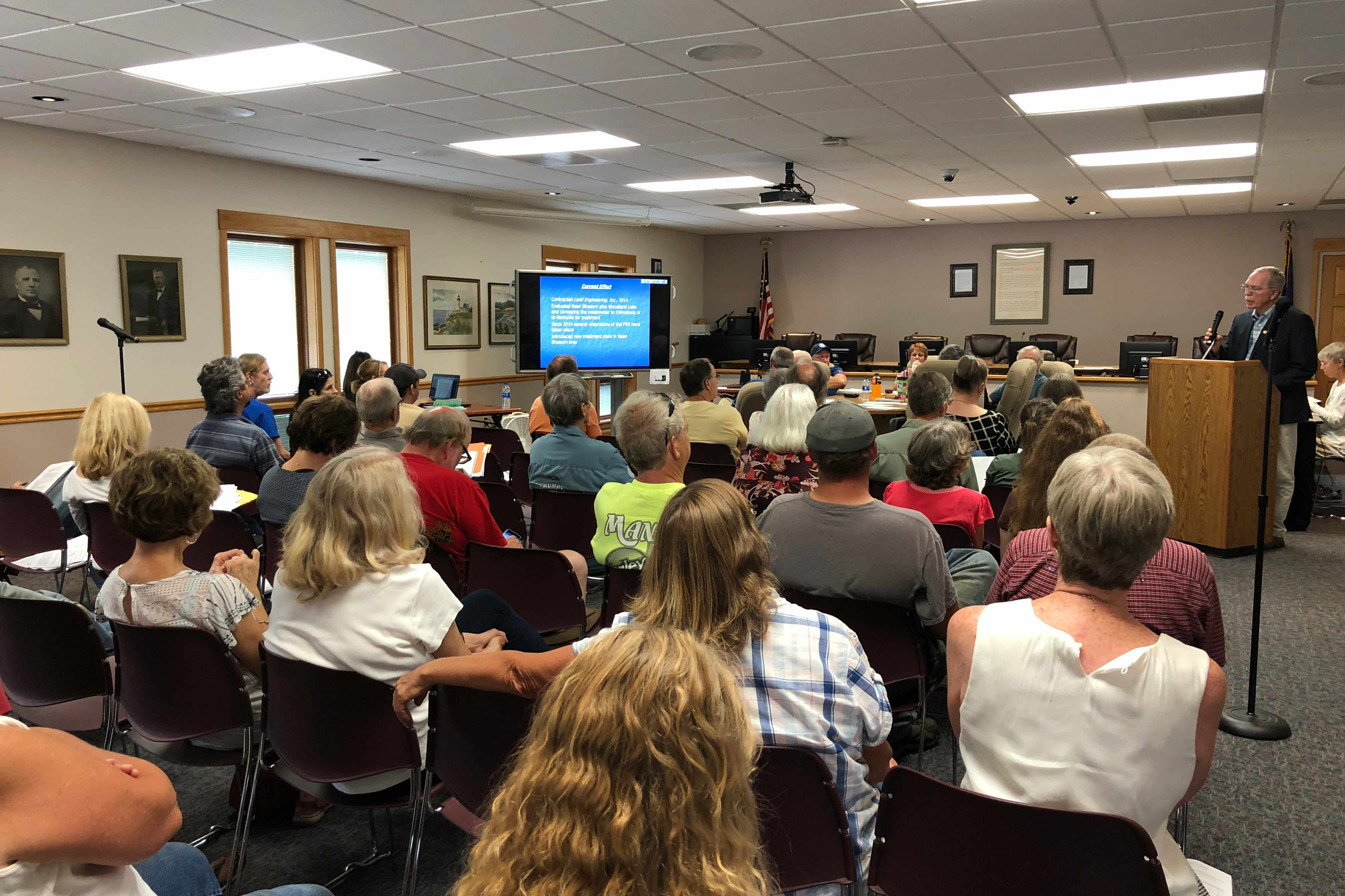 Nearly 40 residents attended a Brown County Regional Sewer District Board meeting.  The is green lighting a pricey environmental study that could pave the way for future sewer service to 275 homes.(Brock Turner, WFIU/WTIU News)