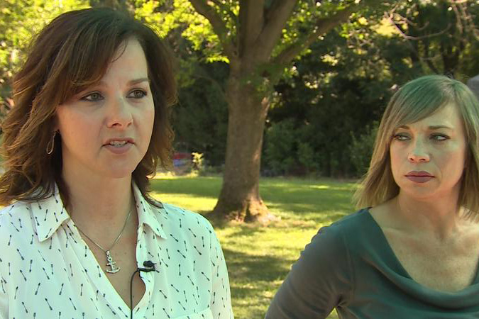 Kari Rhineheart and Stacie Davidson are part of the group If It Was Your Child. (Steve Burns/WTIU)