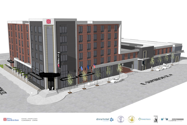 Rendering of Kokomo's new Hilton Garden Inn hotel and convention center. (City of Kokomo)