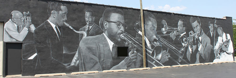 Indiana Avenue jazz mural