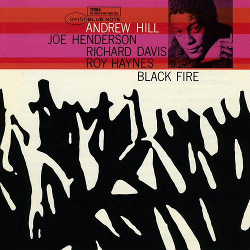 The LP cover for Andrew Hill's Blue Note album BLACK FIRE.